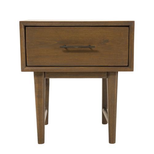 macabane table de chevet 1 tiroir bois de mindi layana
