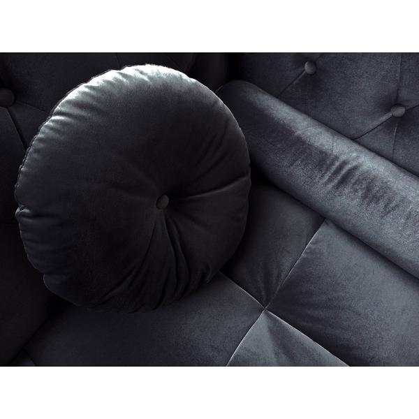canape d angle british velours noir style chesterfield diana