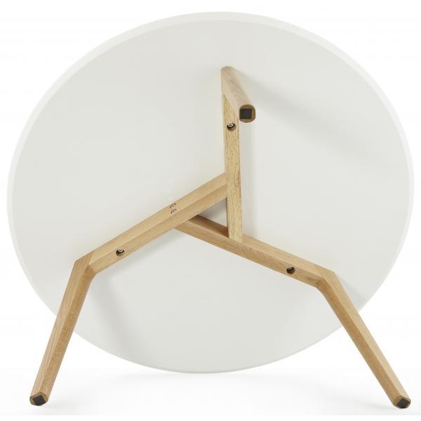 table basse blanche ronde scandinave elsa