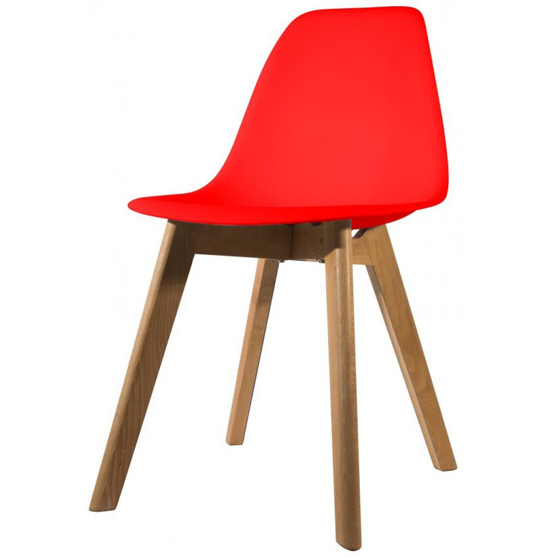 chaise scandinave coque rouge orkney plus de details