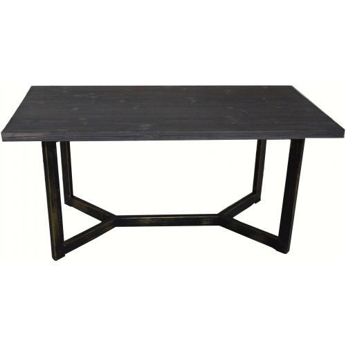 table basse rectangulaire en metal et bois palino 3s x home