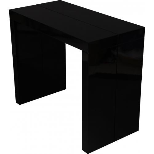 console extensible 180cm noir laque maximb 3s x home