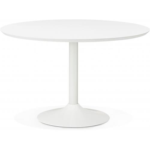 table a manger ronde blanche pied blanc d120 howie 3s x home