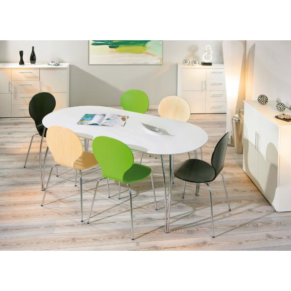 table a manger extensible blanche 90x140 babo