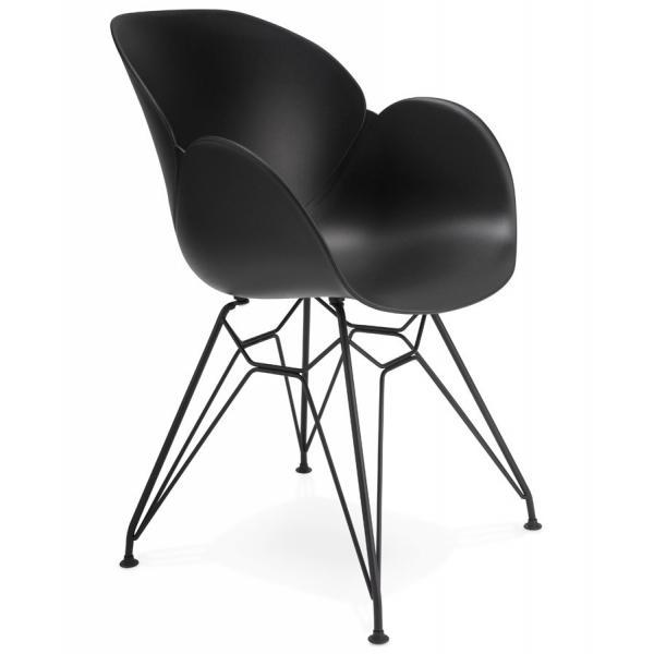 chaise design en plastique noir design