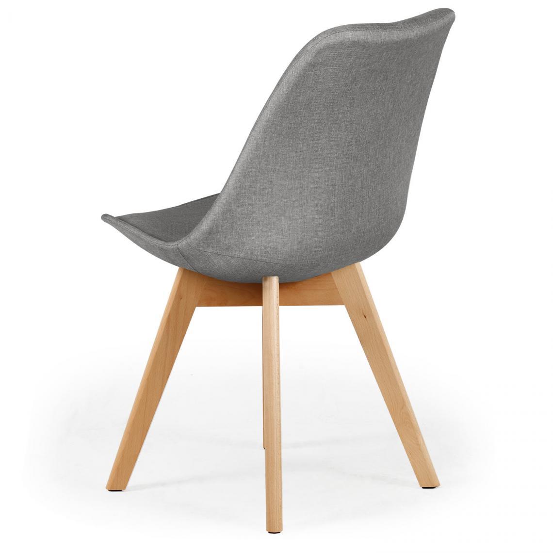 lot de 4 chaises scandinaves en tissu