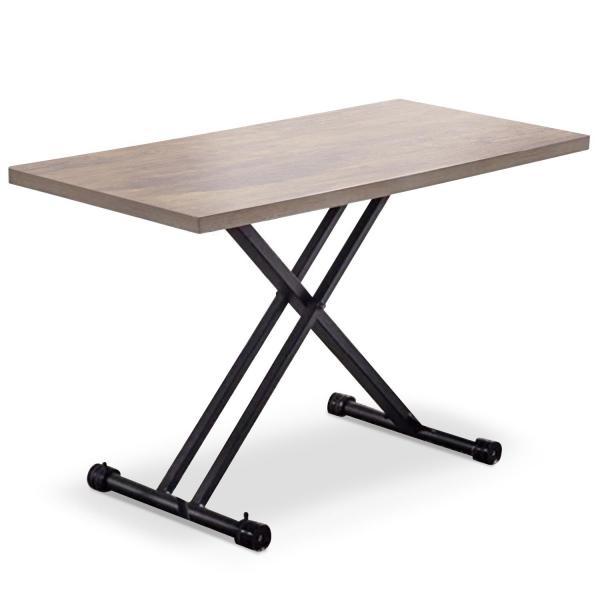 table rectangulaire reglable en hauteur bois clair bargny