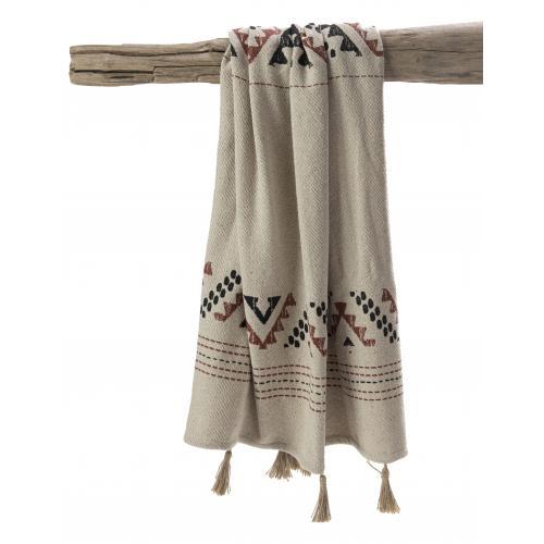 3s x home plaid terracotta naturel 130x150 marrakech