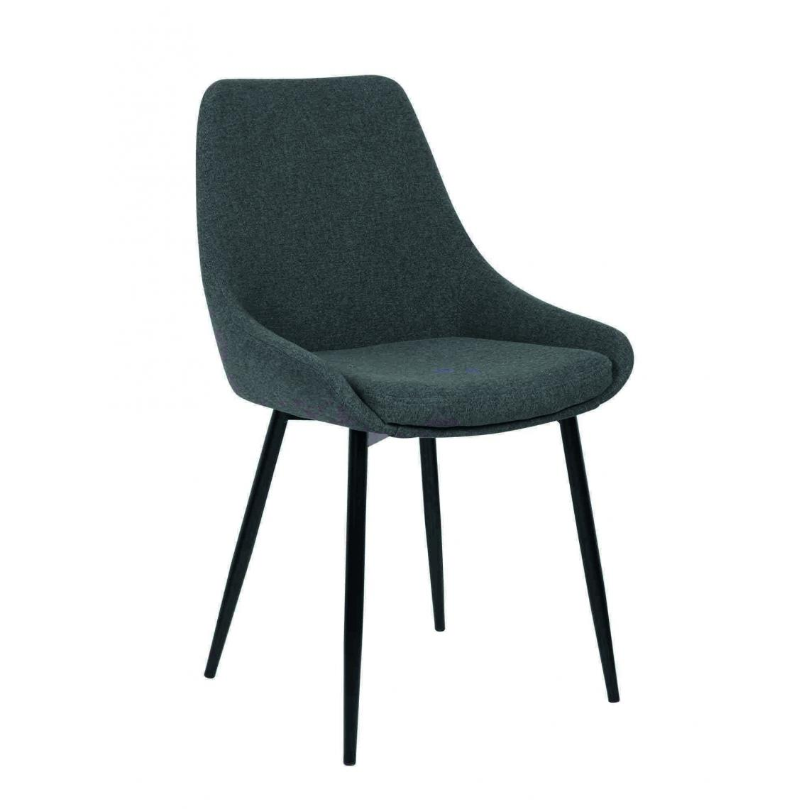 chaise tissu gris fonce indo