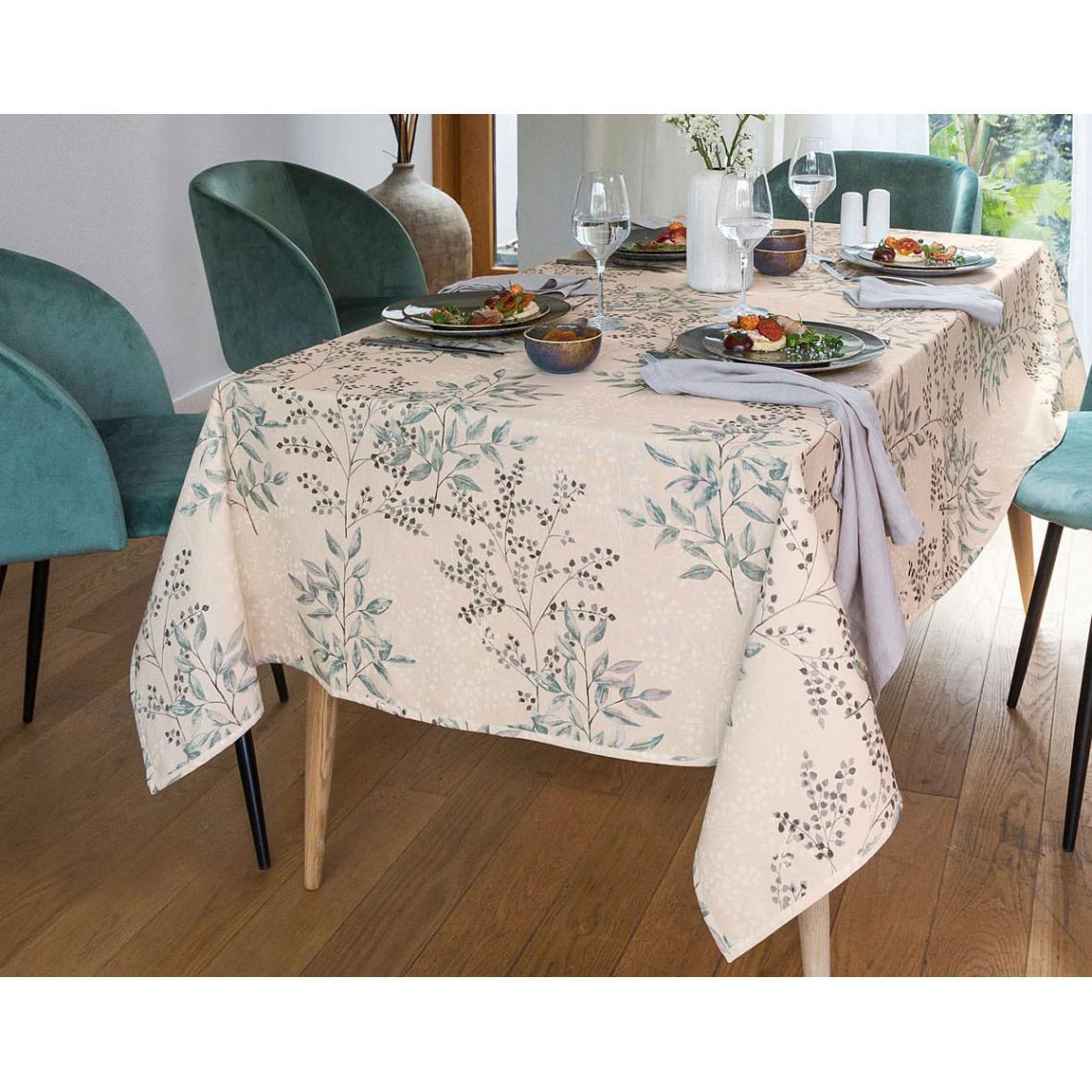 nappe carree motif floral 140 x 140 cm