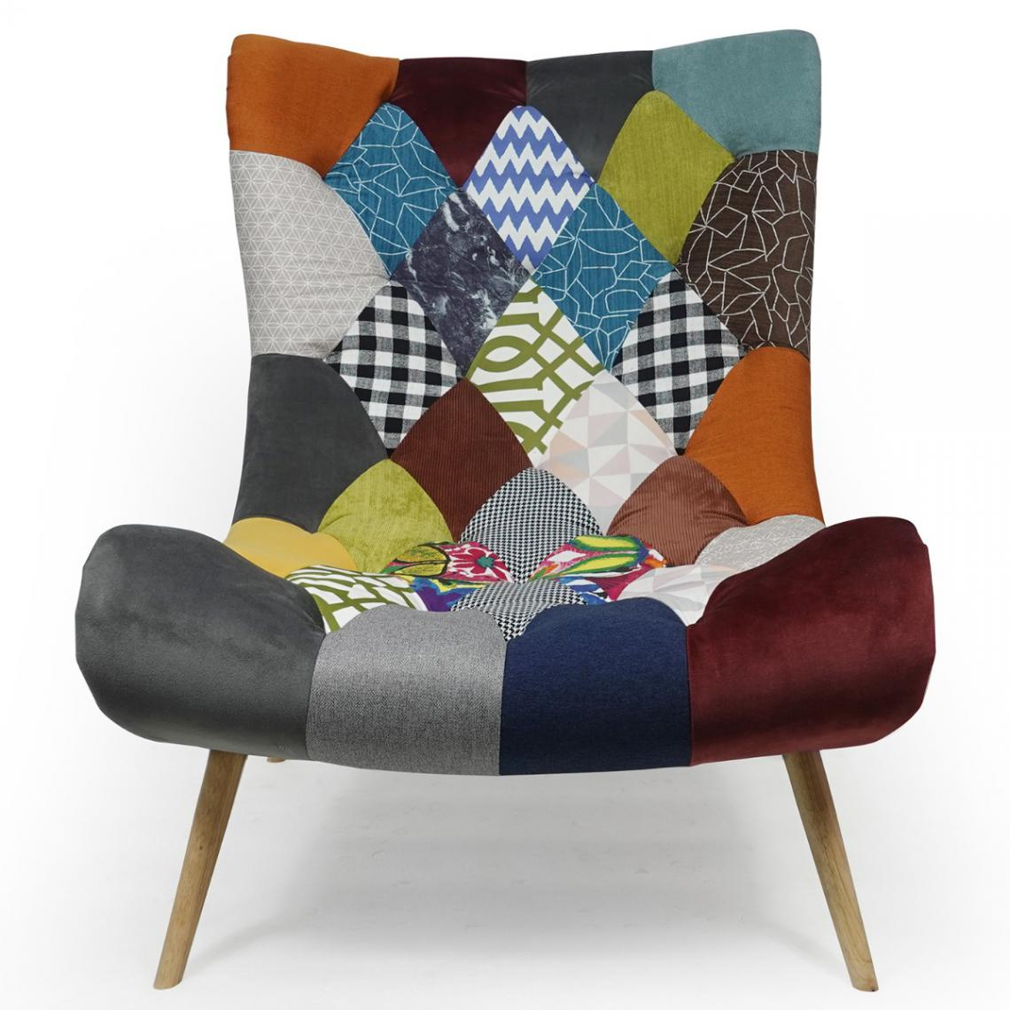 fauteuil scandinave romilly tissu