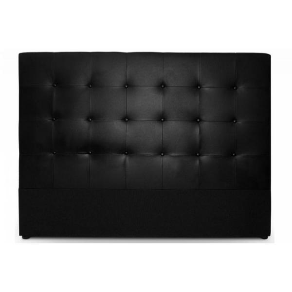 tete de lit capitonnee 140 cm cocoon noir 140x1209
