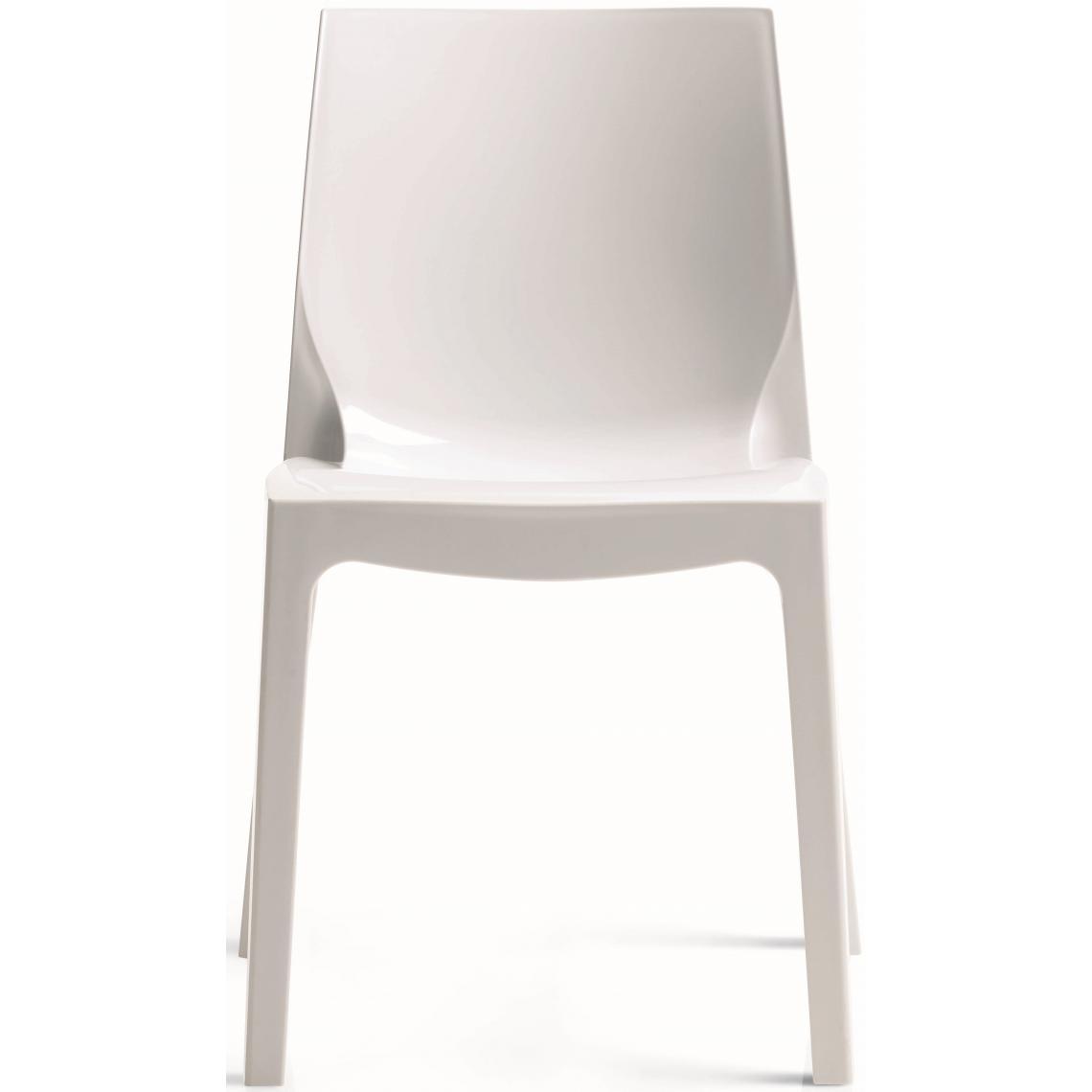 chaise design blanche laquee danube