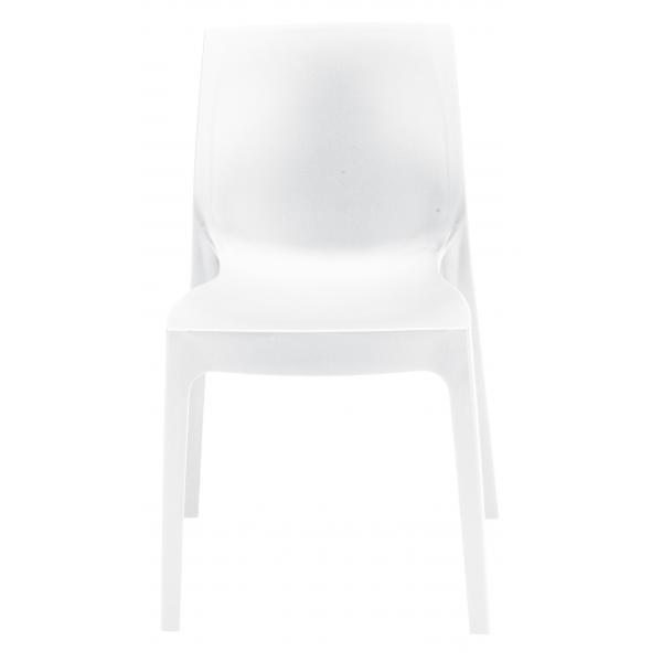 chaise design blanche milan