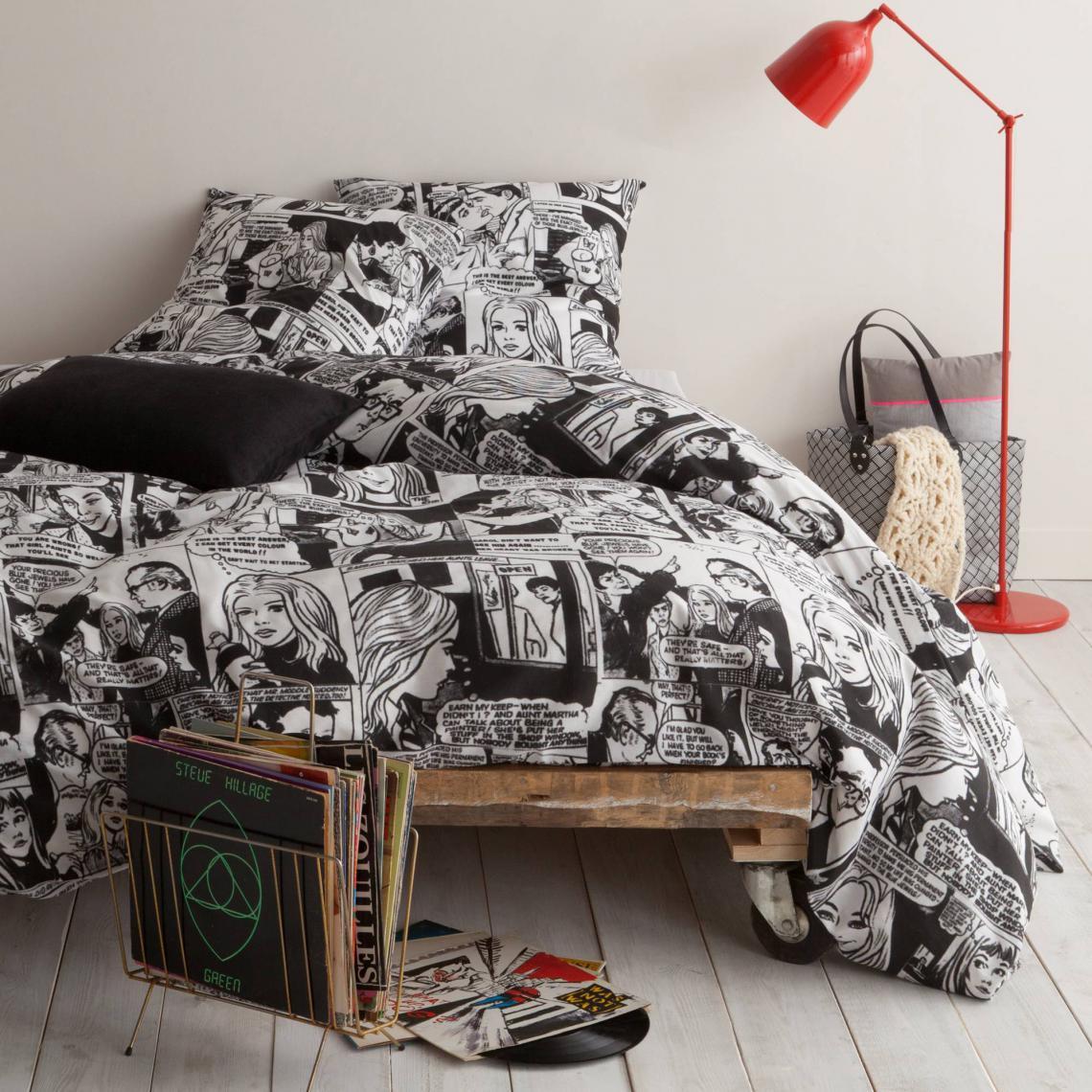 parure de lit polycoton bede noir