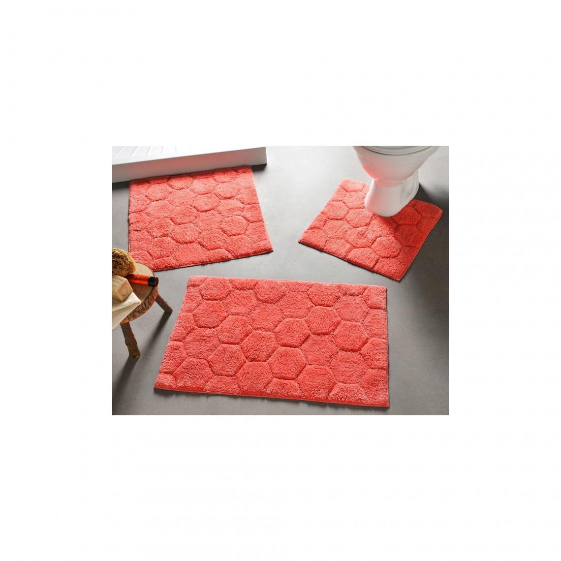 tapis de bain 1800 g m rouge
