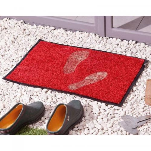 becquet tapis antipoussiere rouge