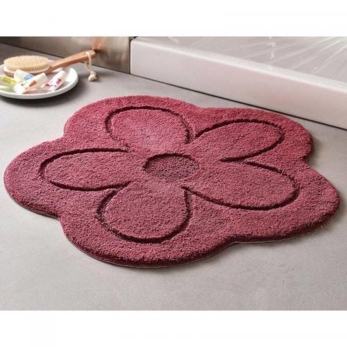 becquet tapis de bain forme fleur 1800gm violet