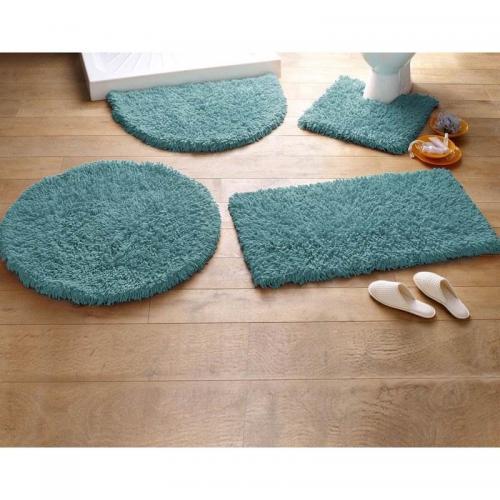 becquet tapis de bain coton longues meches 1500g m2 vert
