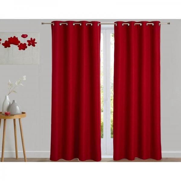 rideau occultant thermique aspect natte becquet rouge