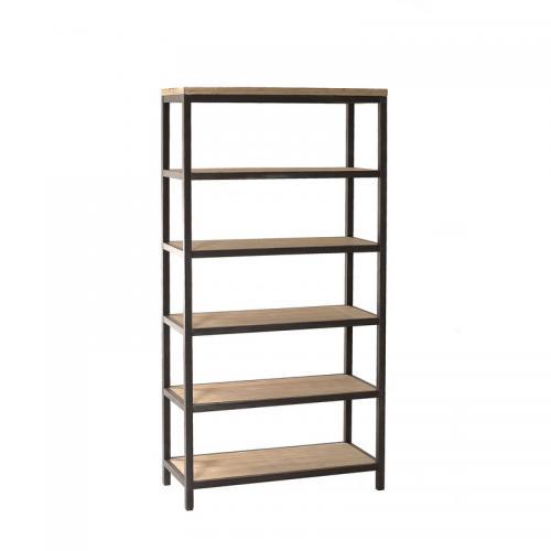 etagere 5 niveaux style industriel bois macabane