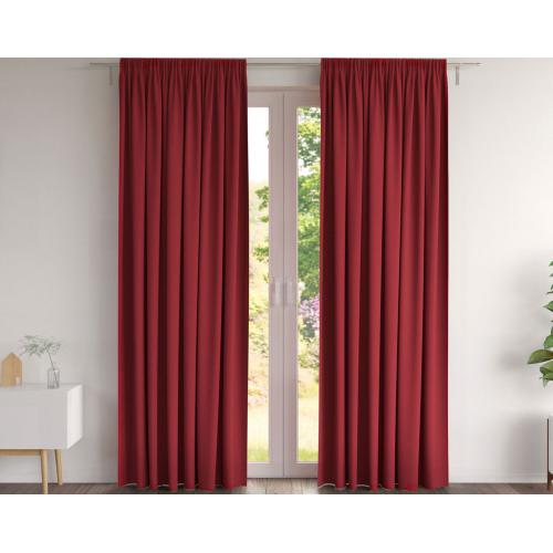becquet rideau country tissage natte rouge