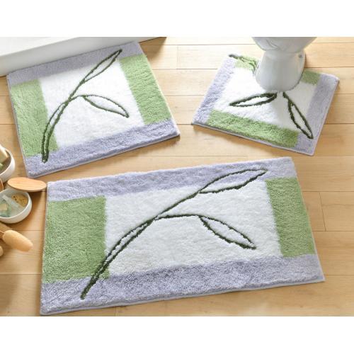 becquet tapis de bain soyeux 1000g m2 vert