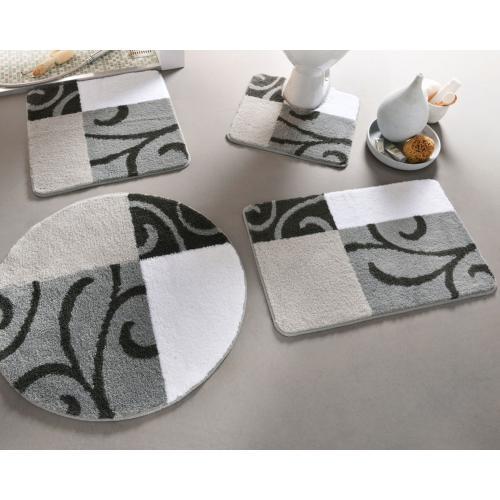 becquet tapis wc volutes gris