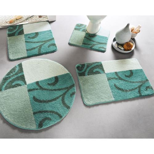 becquet tapis wc volutes vert emeraude