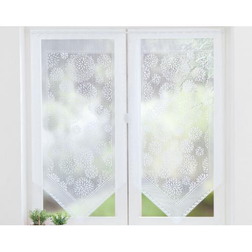 becquet voilages droits dentelle a fleurs blanc