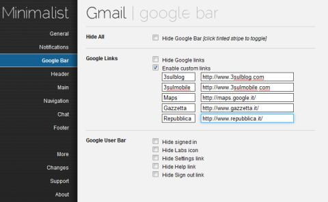 Personalizzate l'interfaccia di Gmail su Google Chrome