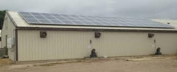 Figura 3. Instalación de sistemas eléctricos solares en explotaciones porcinas Fuente: Acevedo, R. Universidad de Minnesota.
