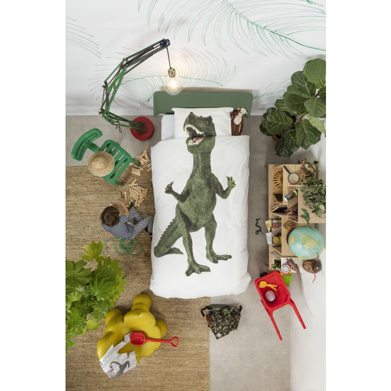 Dekbedovertrek Dinosaurus Rex Snurk  www3vosjesnl