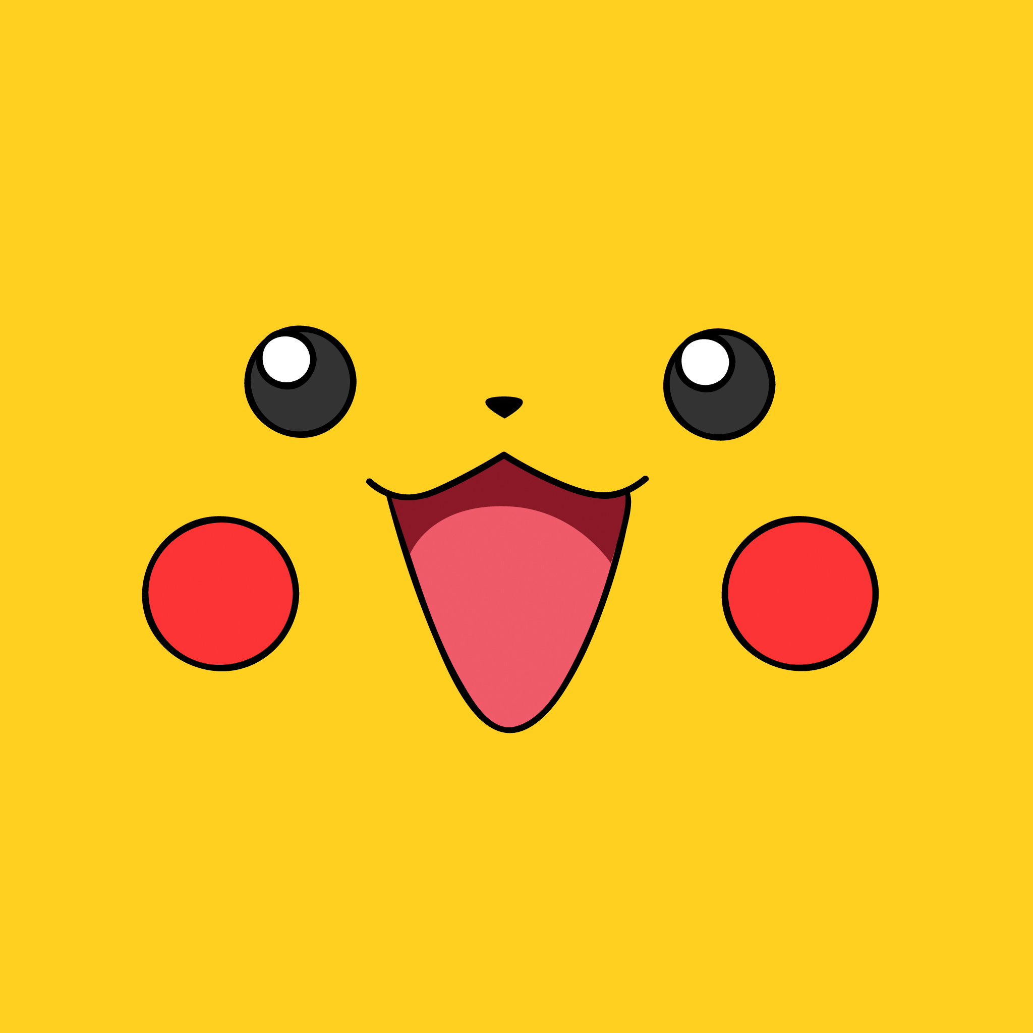 Simple Pikatchu 3Wallpapers iPad Simple Pikatchu   iPad