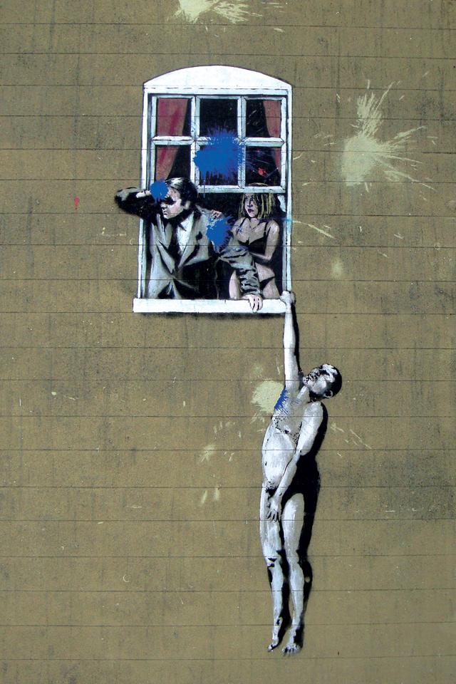 Banksy Hung Window 3Wallpapers Banksy   Hung Window