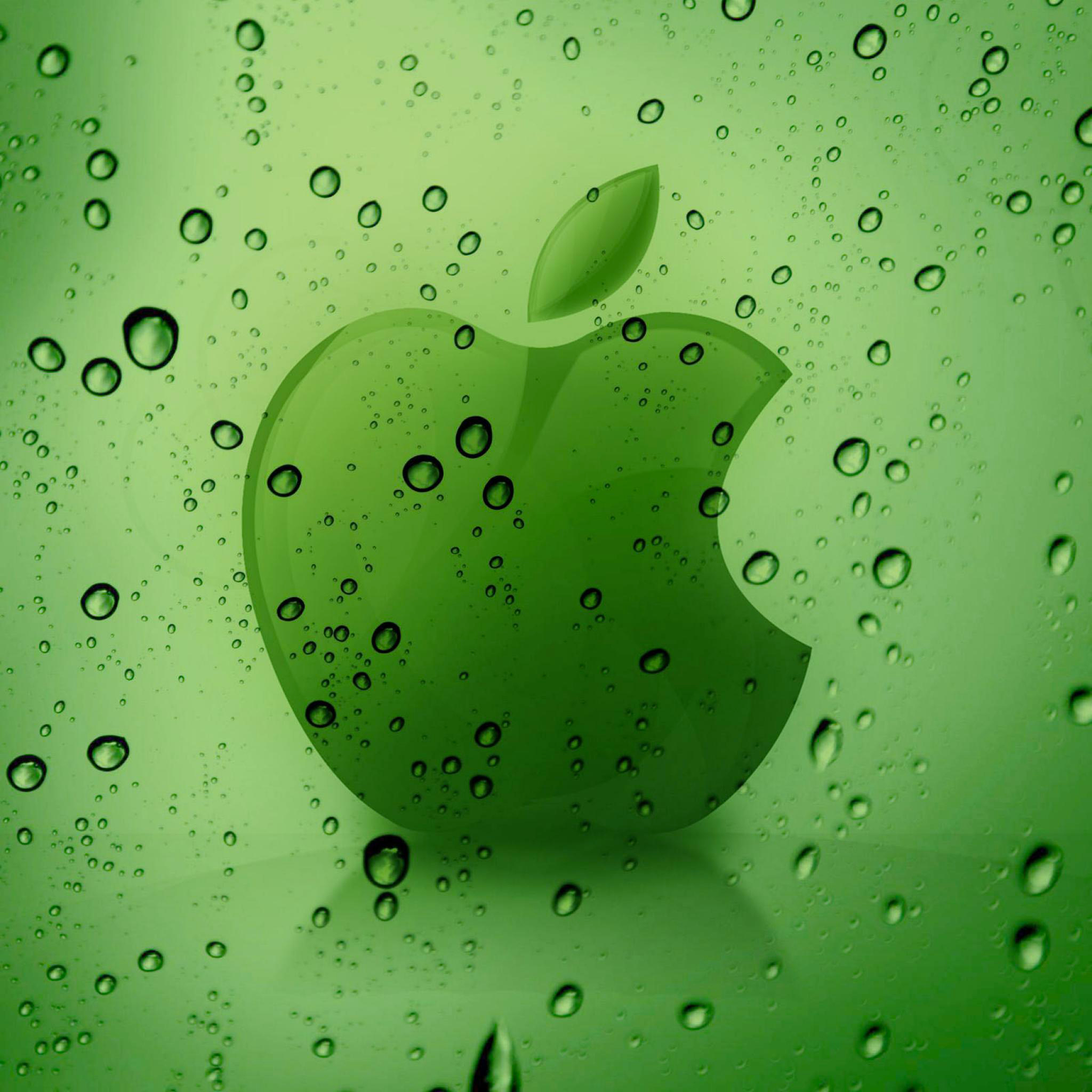 Green Apple Logo 3Wallpaper iPad Retina Green Apple Logo   iPad Retina