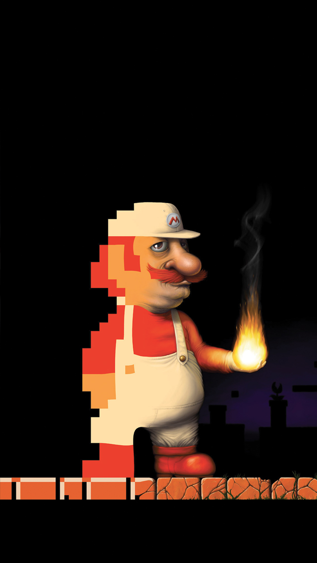 Mario Trash 3Wallpapers iPhone 5 Mario Trash