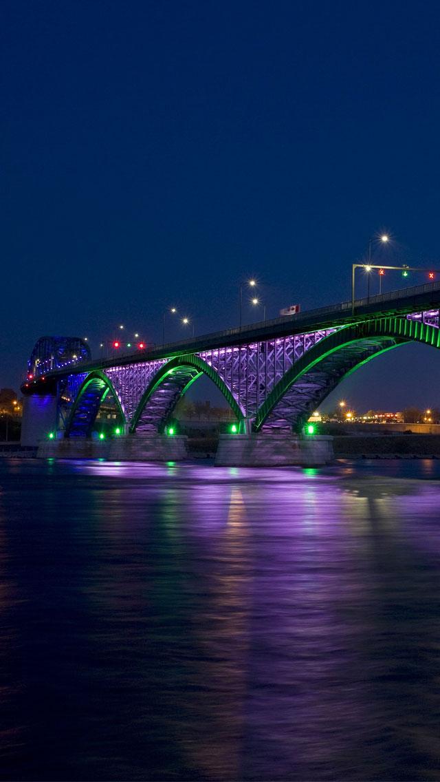 Peace Bridge by Night 3Wallpapers iPhone 5 Peace Bridge by Night