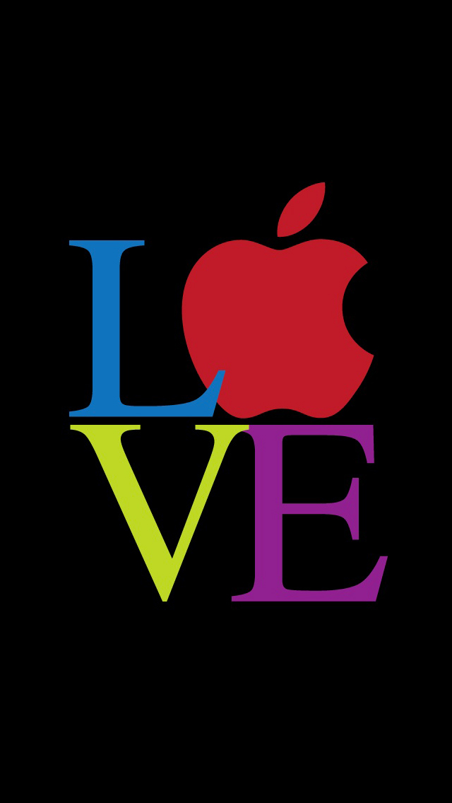 Love Apple 3Wallpapers iPhone 5 Love Apple