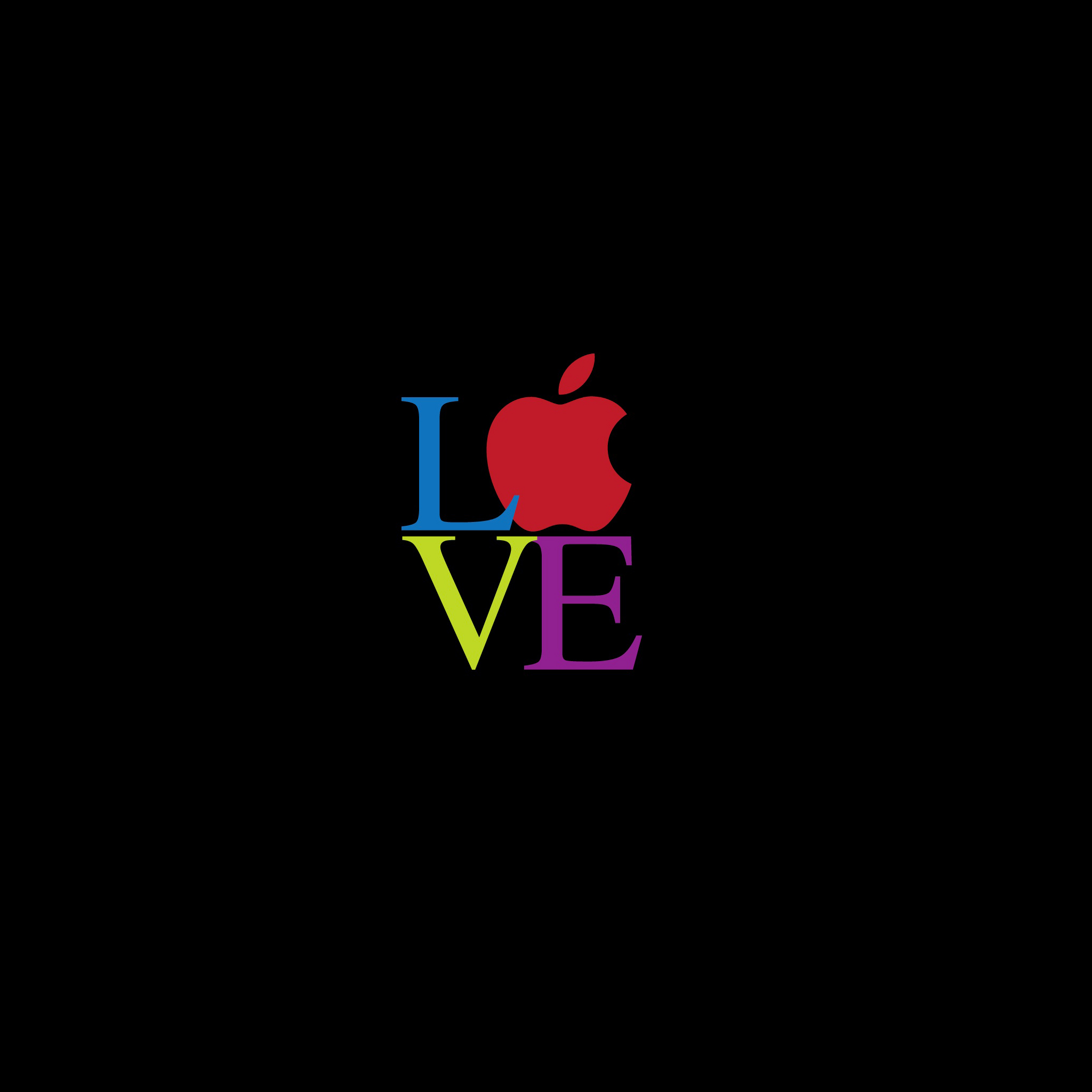 love Apple 3Wallpapers ipad Retina Love Apple   iPad Retina