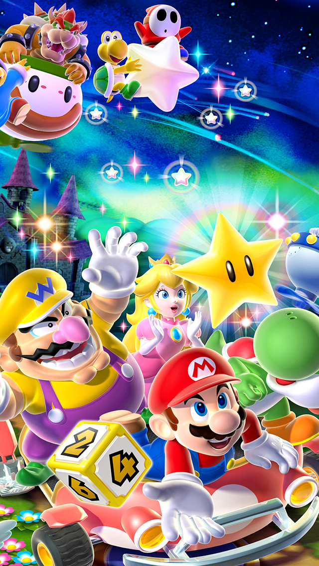 Iphone X Wallpaper Super Retina Mario And Friends Wallpaper For Iphone X 8 7 6 Free