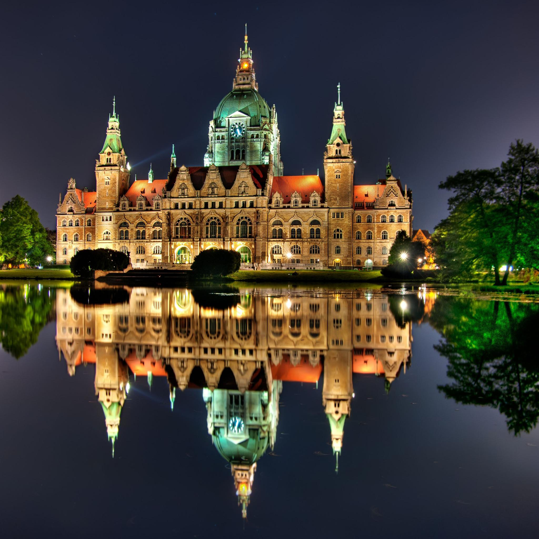 Night Lights Architecture Germany 3Wallpapers iPad Retina Night Lights Architecture Germany   iPad Retina