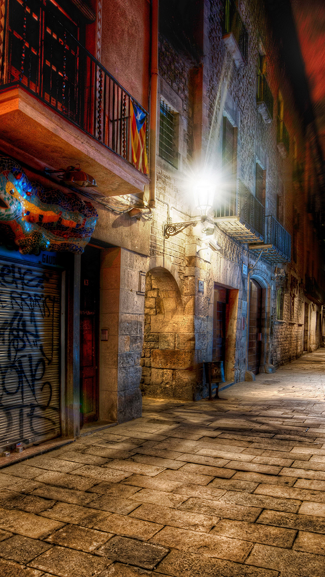 Barcelone Street 3Wallpapers iPhone 5 Barcelona Street