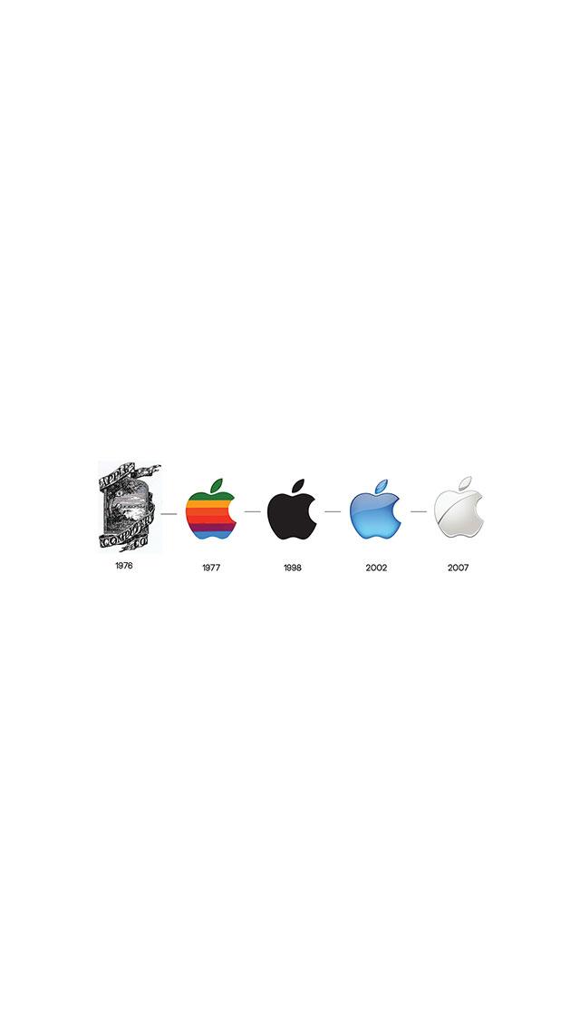 Apple Logo History 3Wallpapers iPhone 5 Apple Logo History