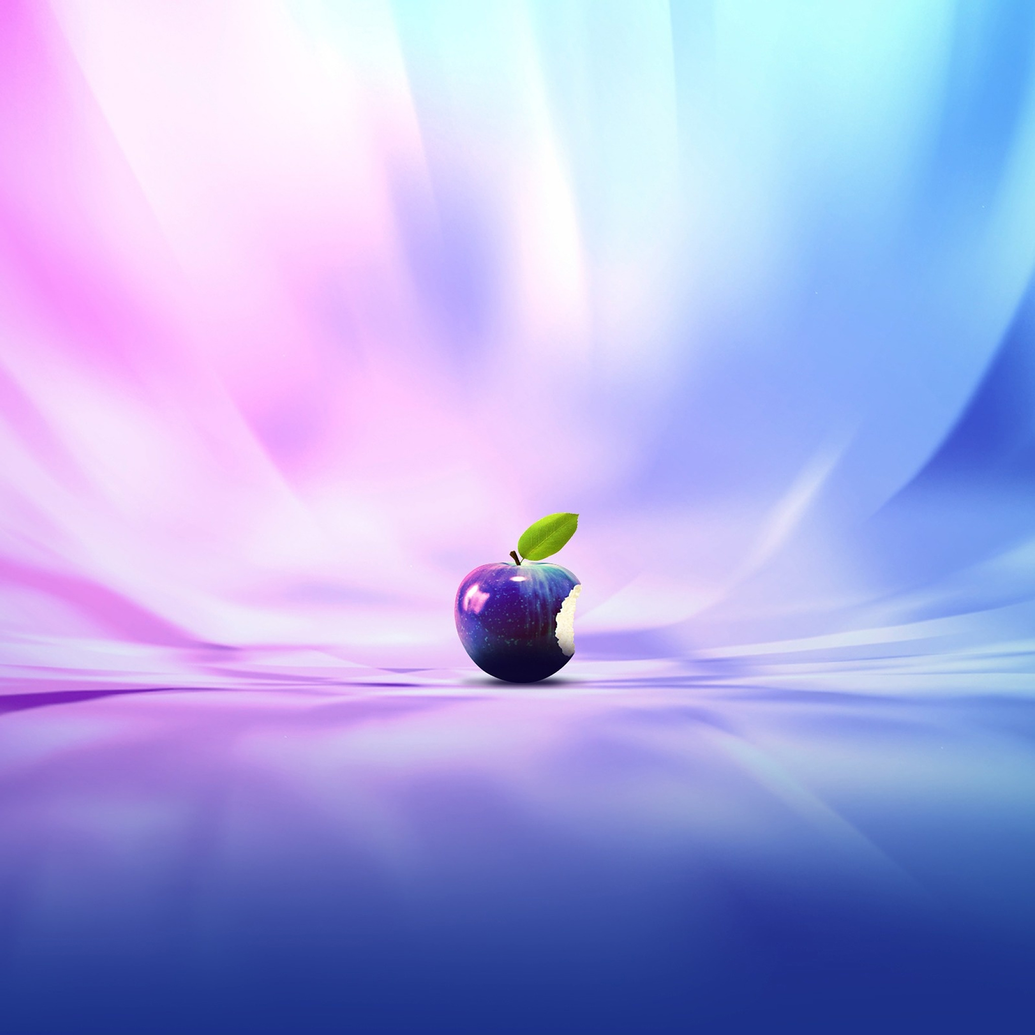 Blue Light Apple 3Wallpapers iPad Retina Blue Light Apple   iPad Retina