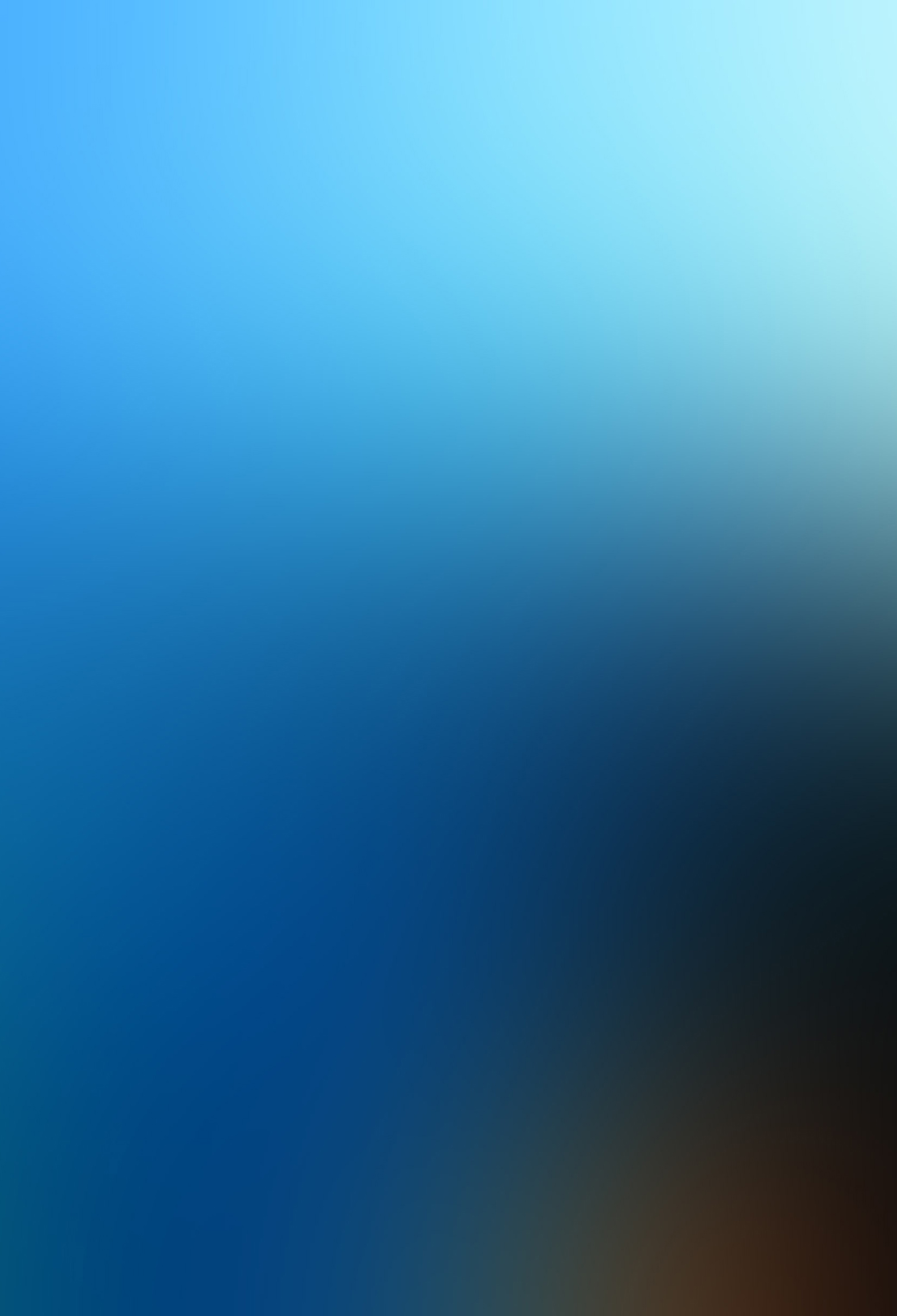 Blue Blurred 3Wallpapers iPhone Parallax Blue Blurred