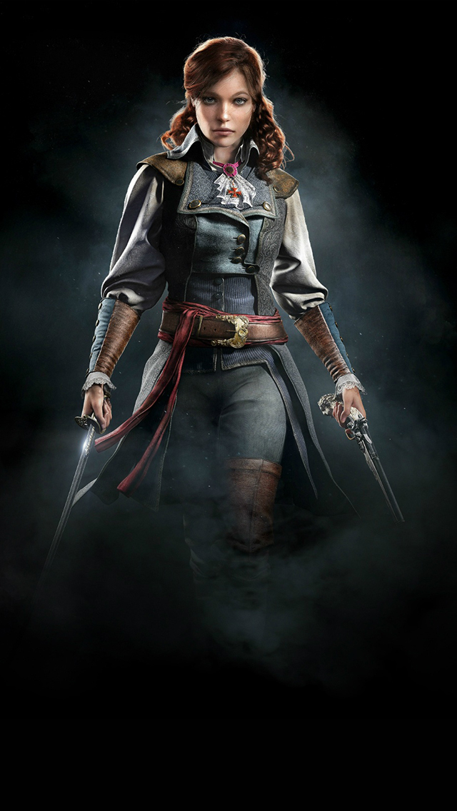 Assassins Creed Unity Elise 3Wallpapers iphone parallax Assassins Creed Unity Elise