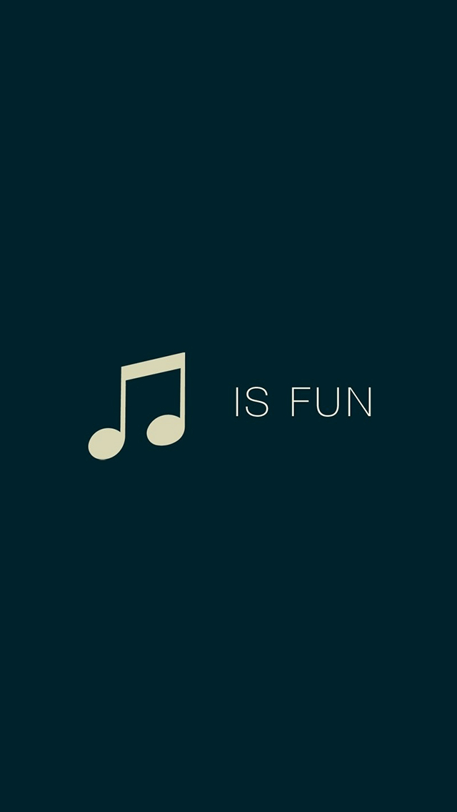 Music is fun 3Wallpapers iPhone parallax Music is fun