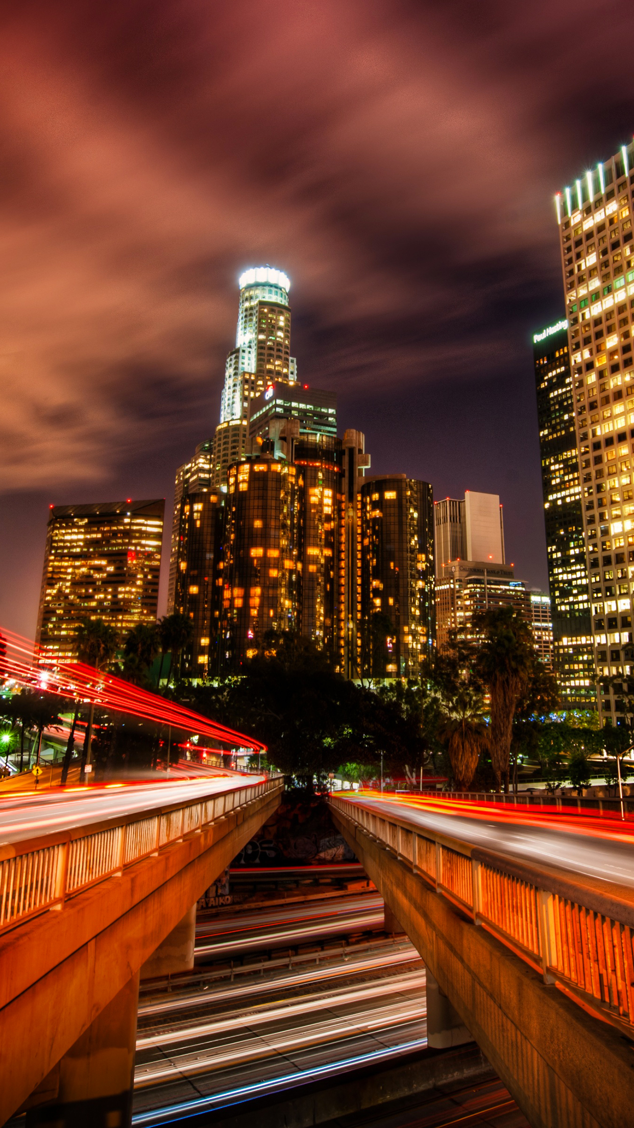 Timelapse los angeles iPhone Parallax 3Wallpapers Time lapse Los Angeles