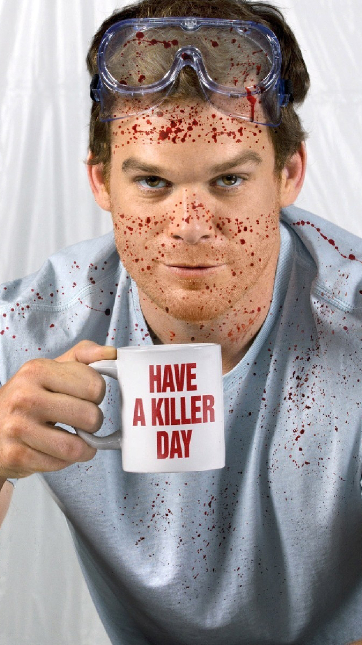 Dexter Mug iPhone 3Wallpapers Parallax Dexter Mug